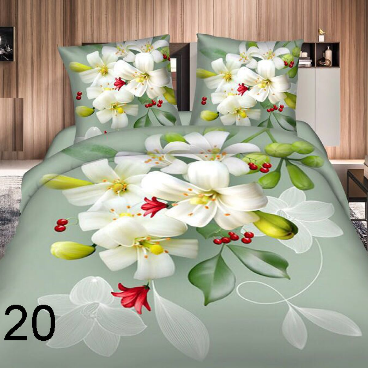 3D Beddings - Antonio - AML-20 - 160x200 cm - 4 pcs