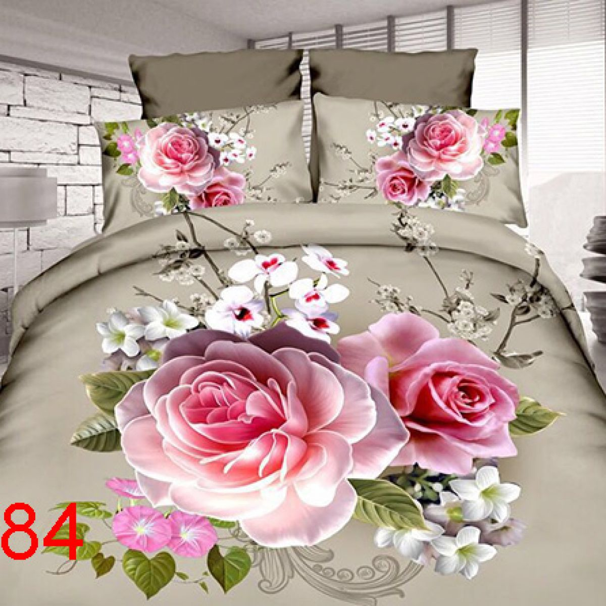 3D Beddings - Antonio - AML-84 - 160x200 cm - 4 pcs