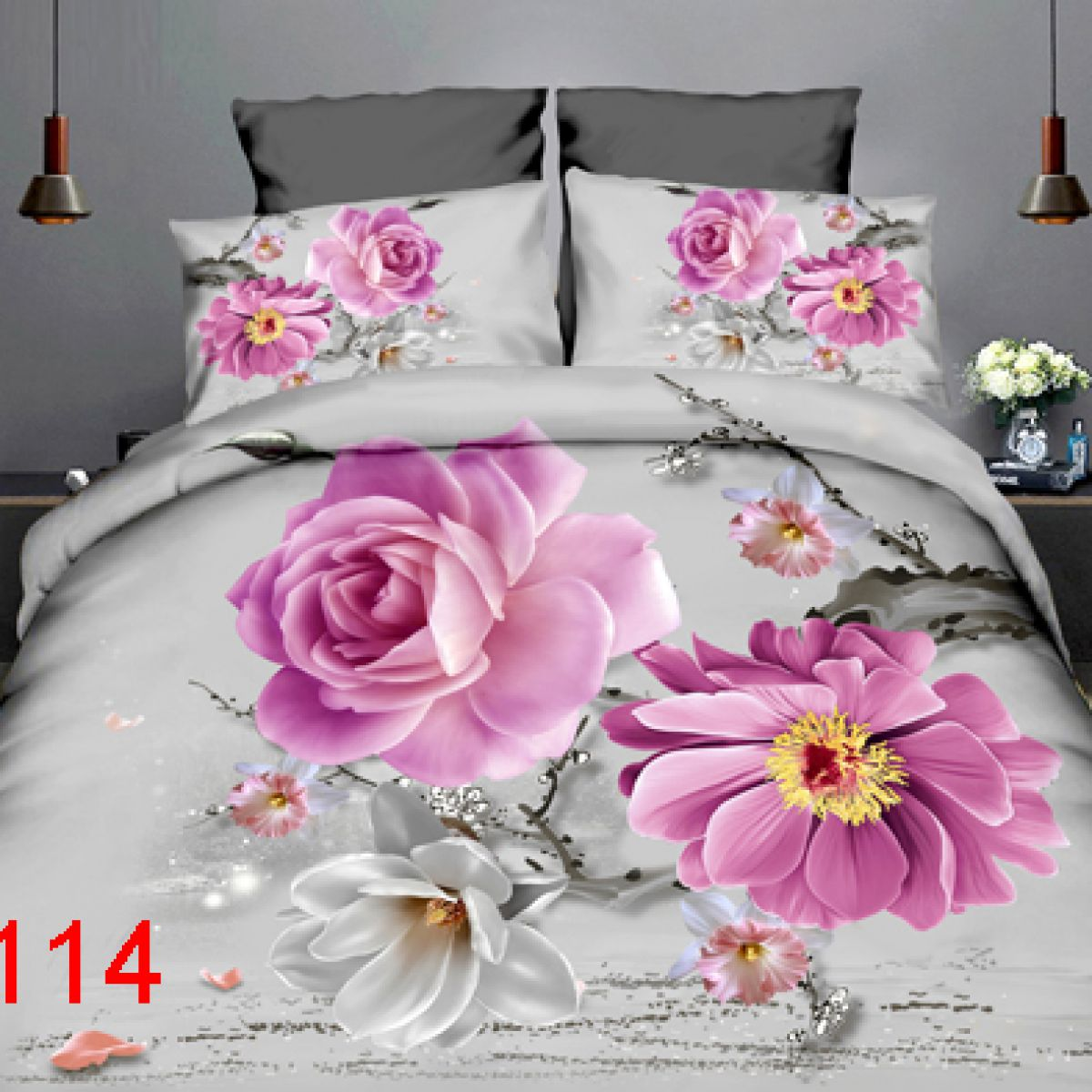 3D Beddings - Antonio - AML-114 - 160x200 cm - 4 pcs