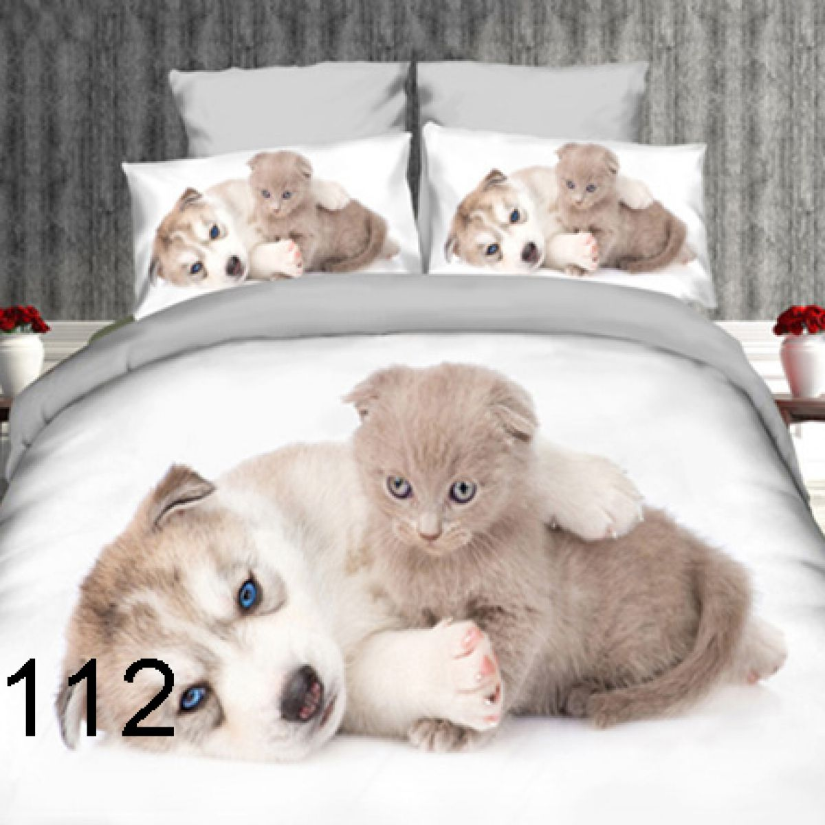 3D Beddings - Antonio - AML-112 - 160x200 cm - 4 pcs
