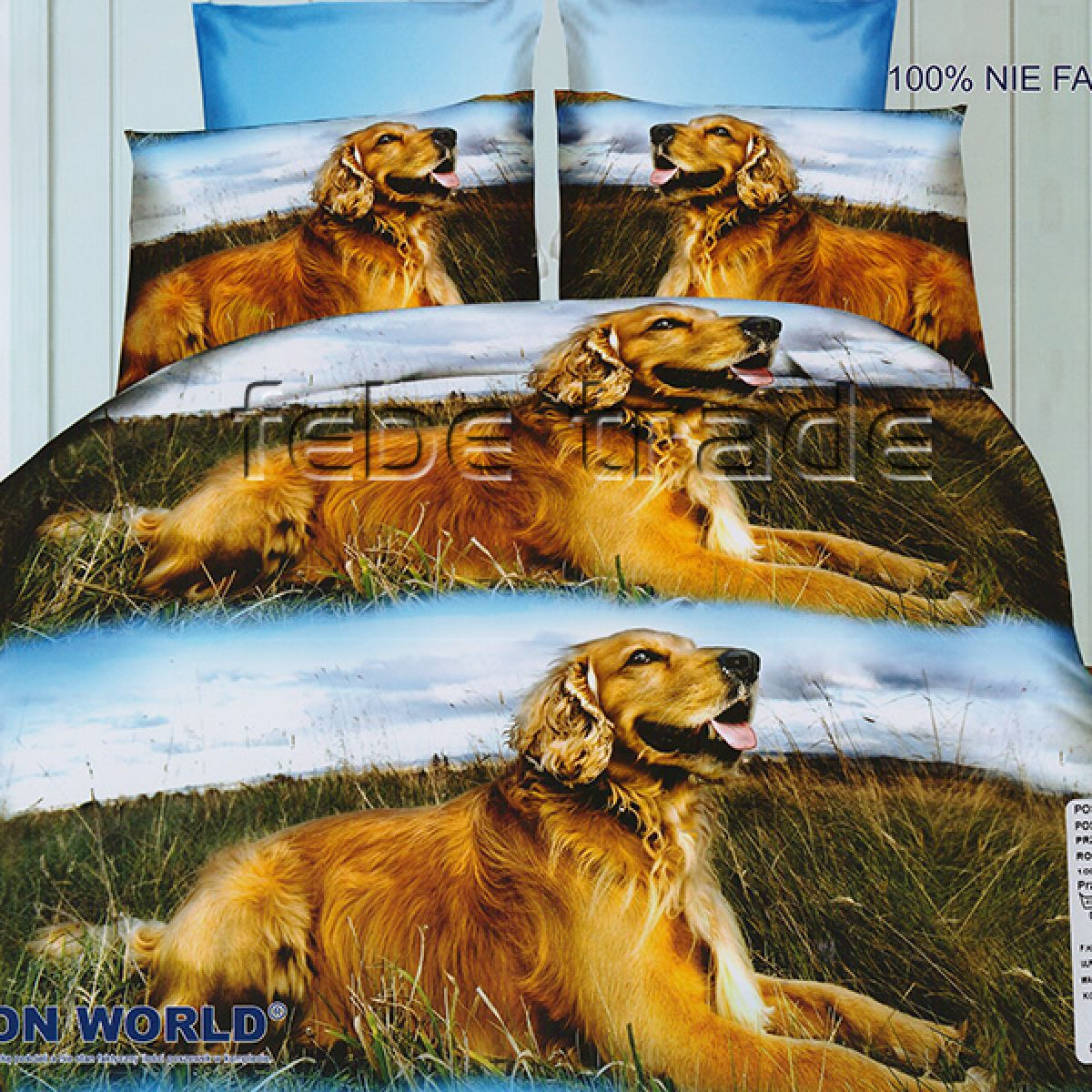 3D Beddings - Cotton World - FSH-205 - 220x200 cm - 4 cz