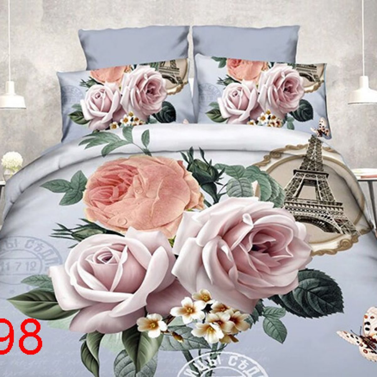 3D Beddings - Antonio - AML-98- 160x200 cm - 4 pcs