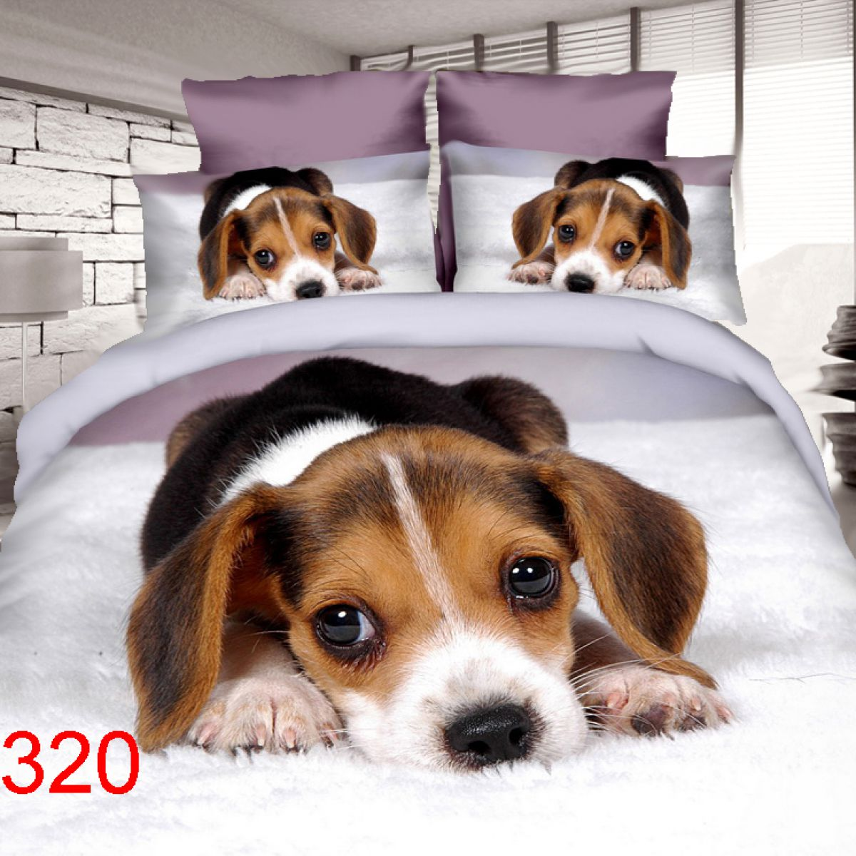 3D Beddings - Antonio - AML-320 - 160x200 cm - 4 pcs