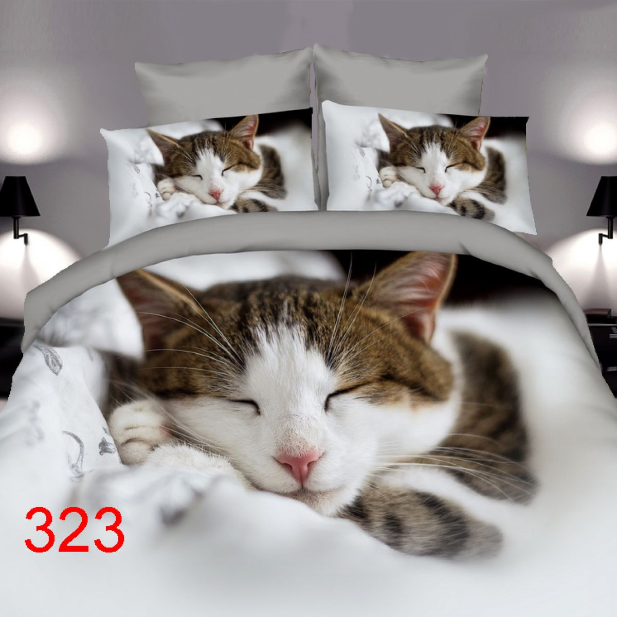 3D Beddings - Antonio - AML-323z - 160x200 cm - 4 pcs