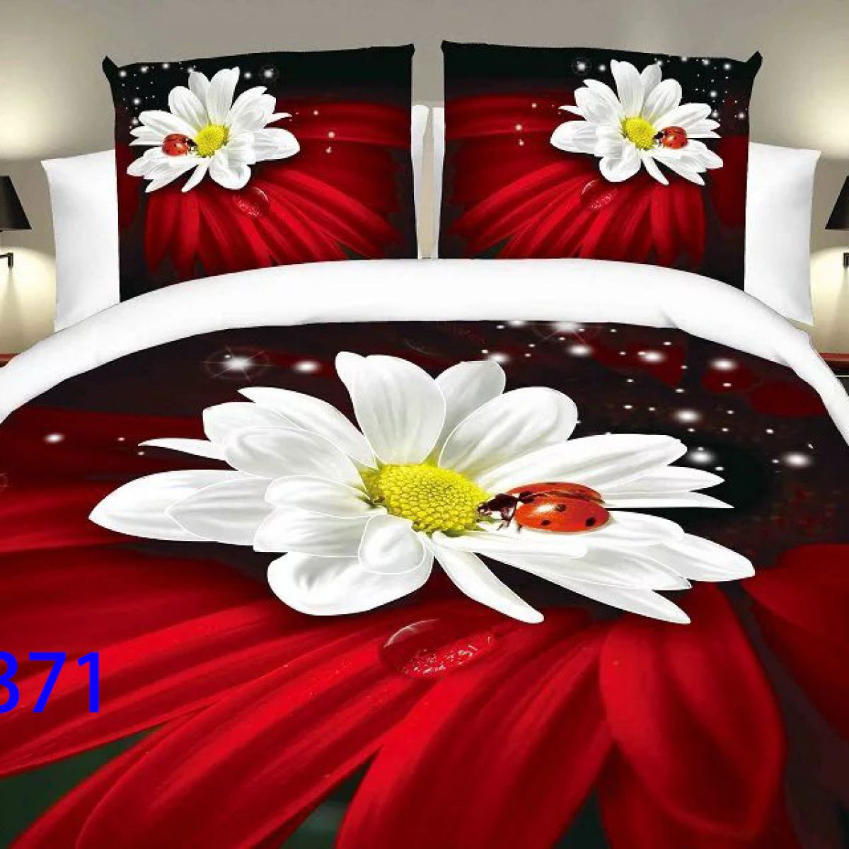 3D Beddings - Antonio - AML-371 - 160x200 cm - 4 pcs