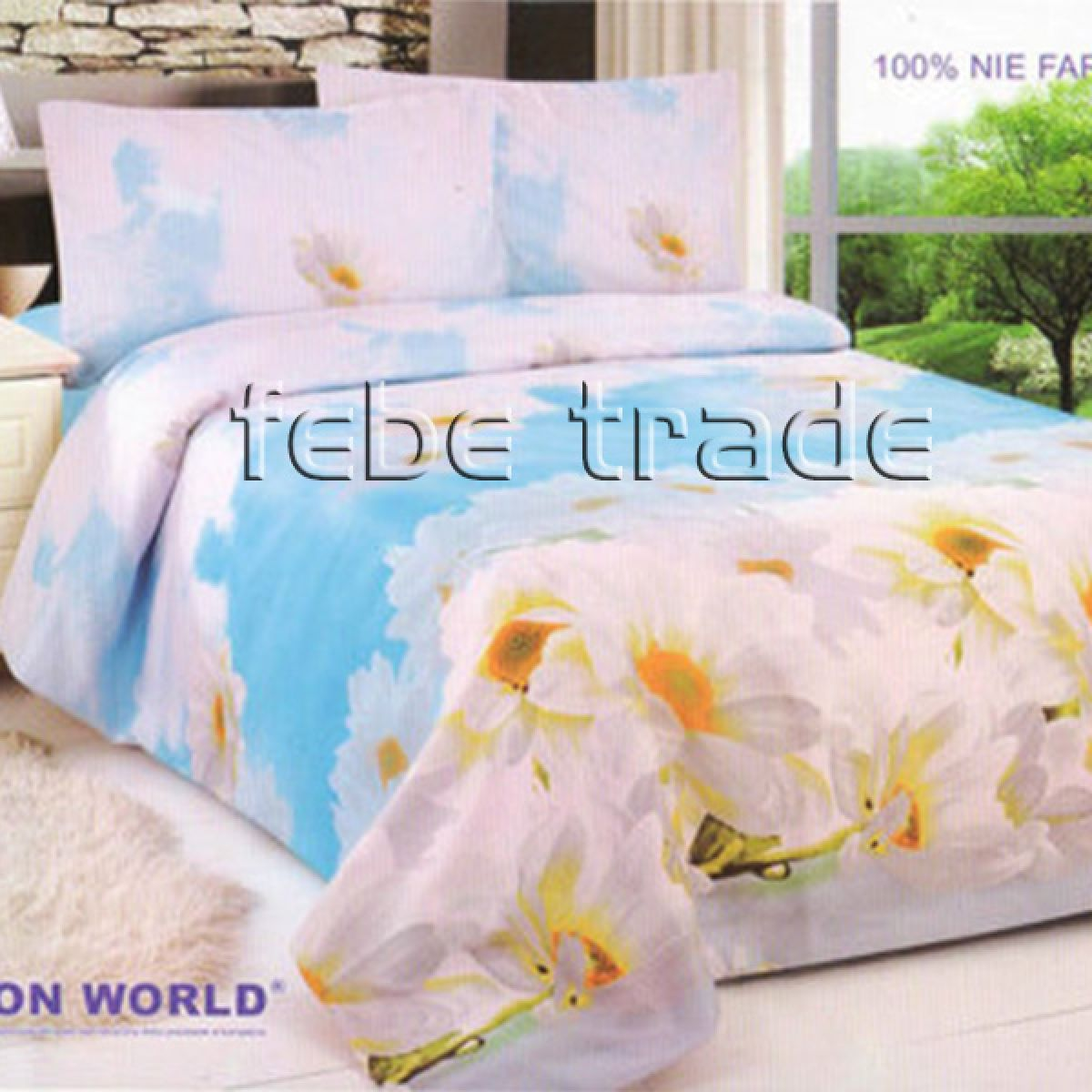3D Beddings - Cotton World - FSP-355 - 220x200 cm - 4 pcs