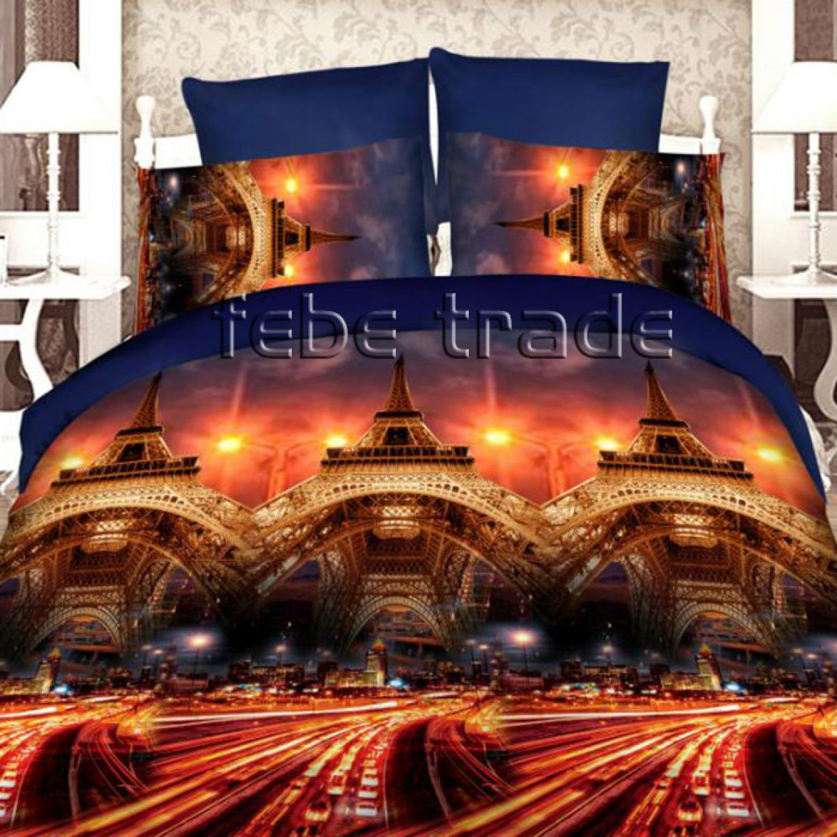 3D Beddings - Cotton World - FSP-712 - 220x200 cm - 3 pcs