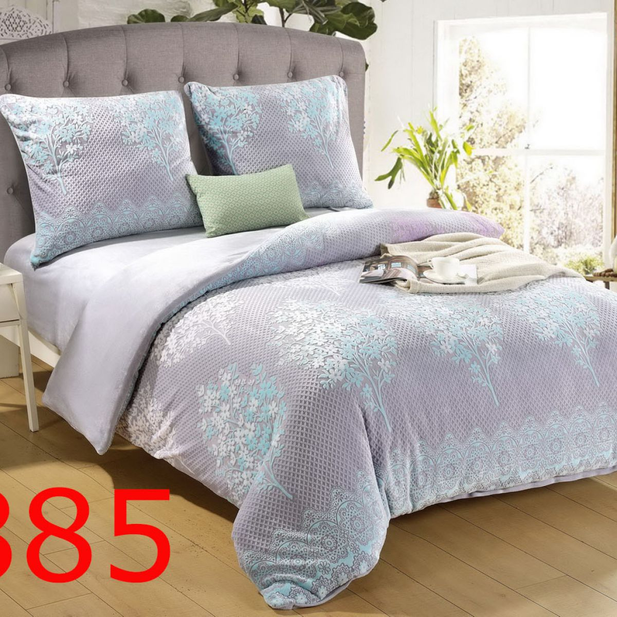Plush Pressed Beddings - Cotton World - SHL-3807 - 160x200 cm - 3 pcs