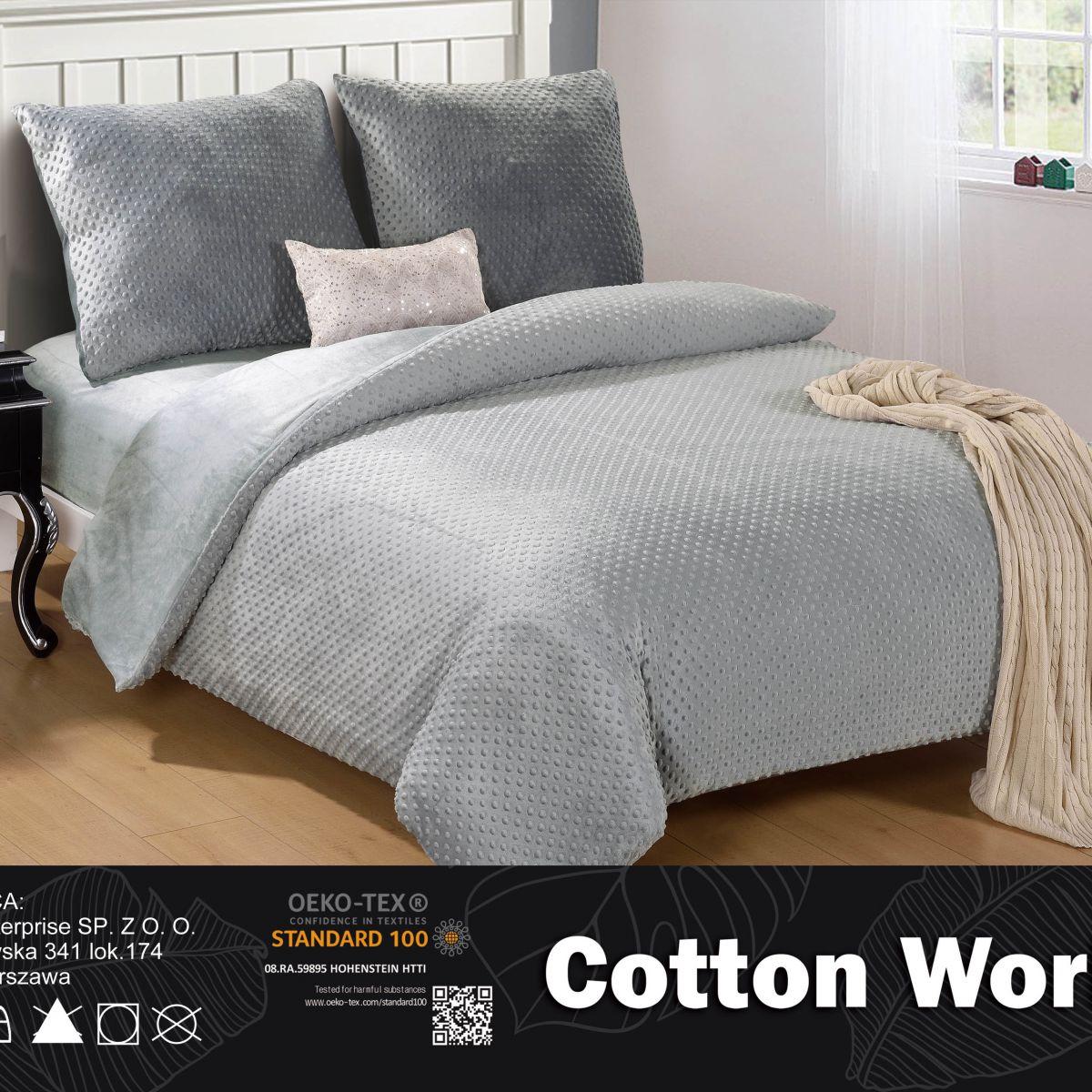 Plush Pressed Beddings - Cotton World - SHE-4701 - 220x200 cm - 3 pcs