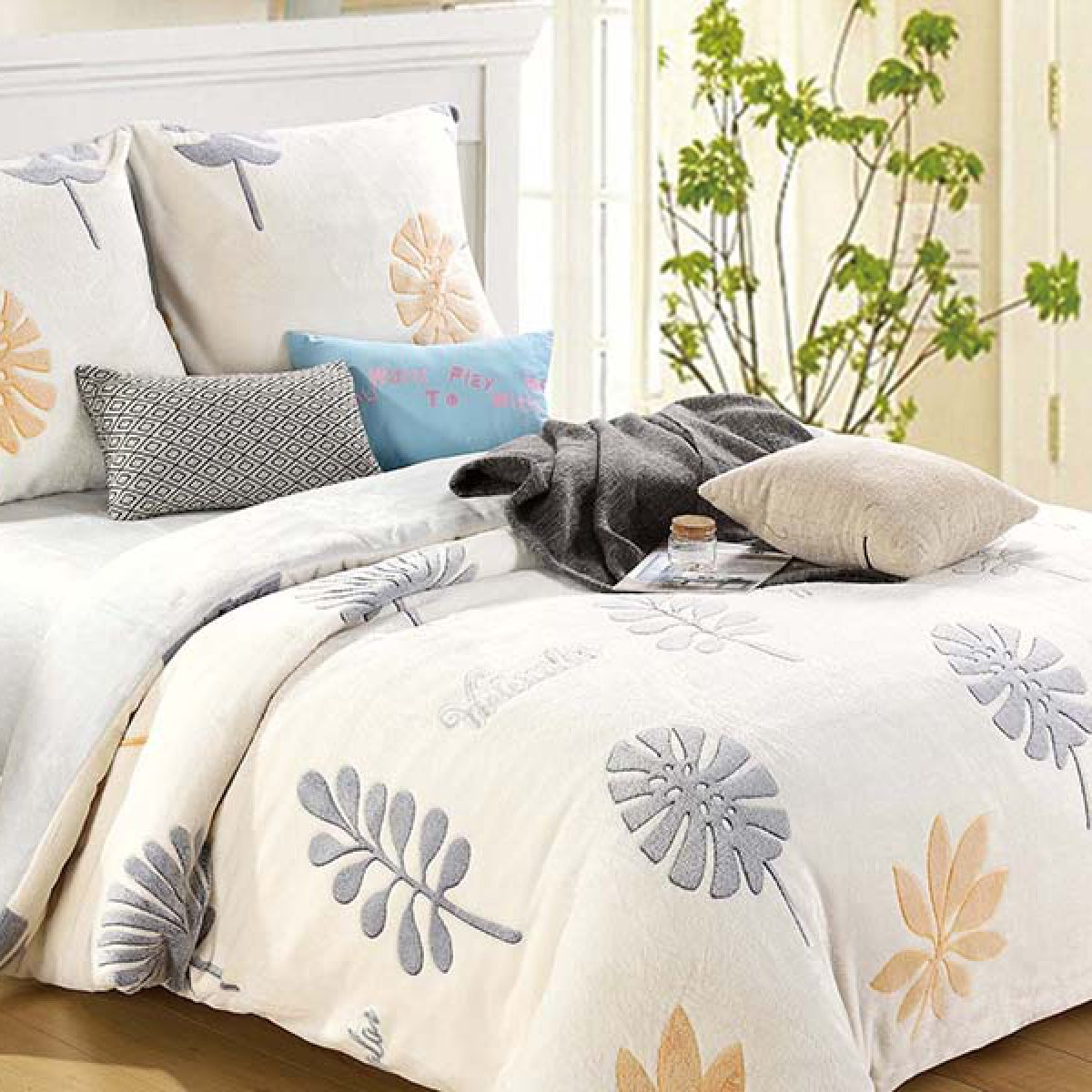 Plush Beddings - Cotton World - SHK-5201 - 220x200 cm - 3 pcs (1)