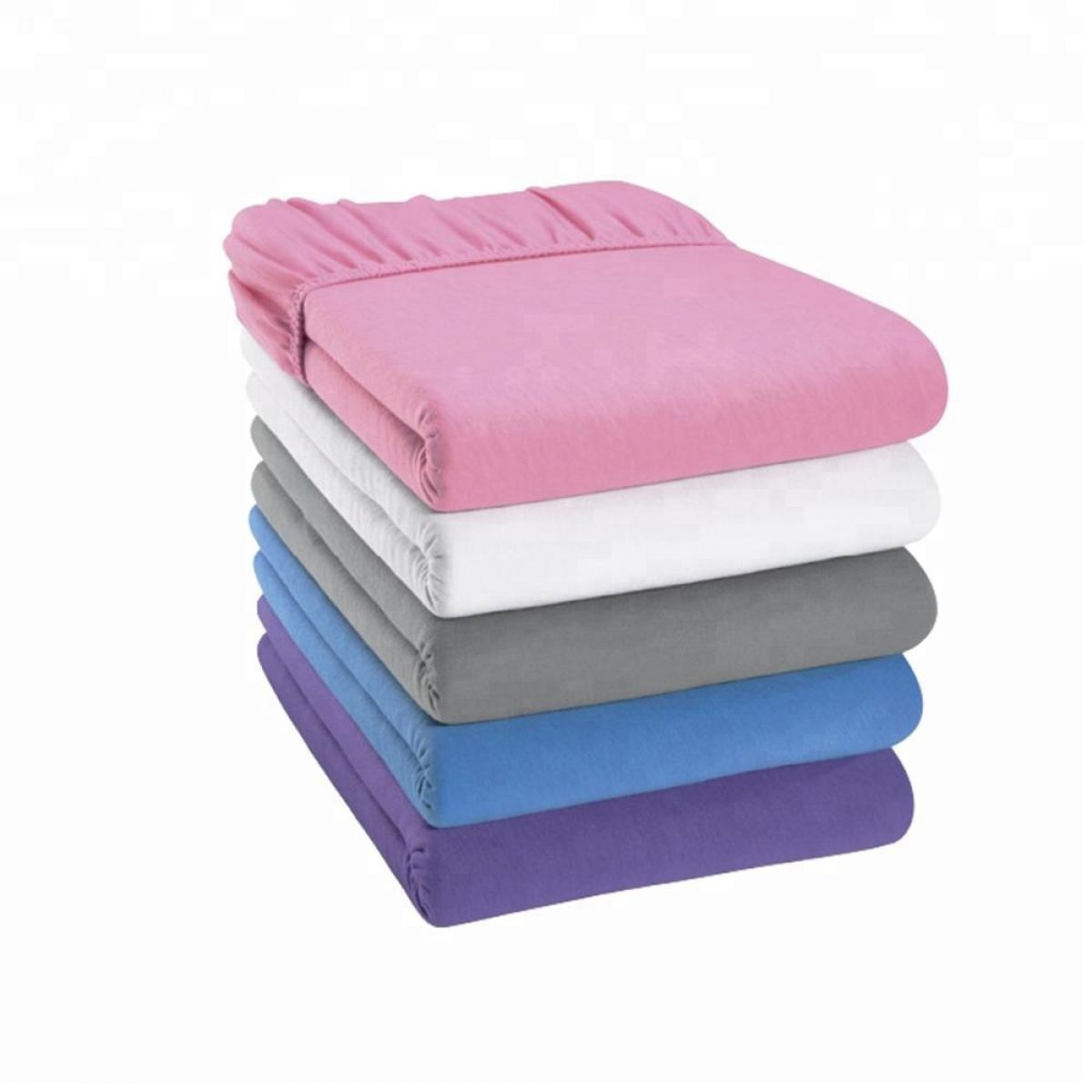 JERSEY fitted sheets - 140x200 cm - mixed colors