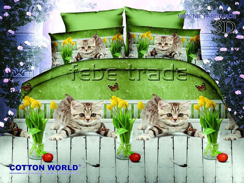 3D Beddings - Cotton World - FST-280 - 160x200 cm - 4 pcs