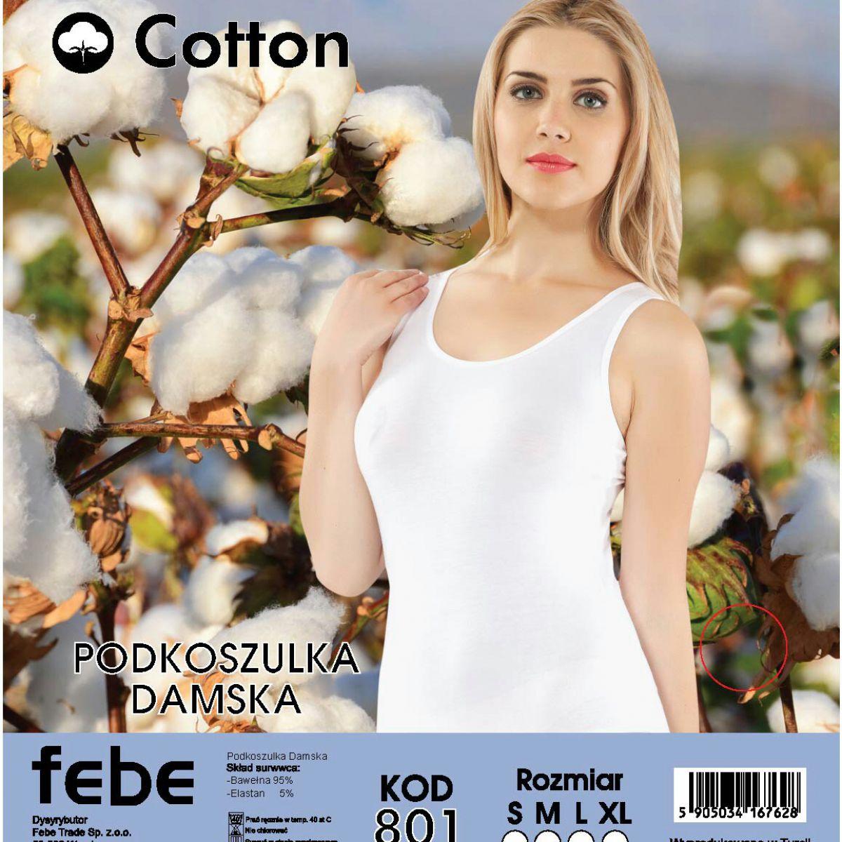 Women's sleeveless cotton shirt FEBE- 801
