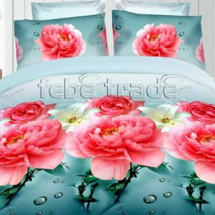 Pościel 3D - Cotton World - FSB-396 - 160x200 cm - 3 cz