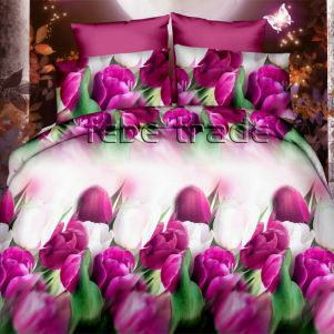 Pościel 3D - Cotton World - FSB-361 - 160x200 cm - 3 cz