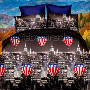 Pościel 3D - Cotton World - FSB-319 - 160x200 cm - 3 cz
