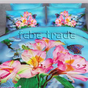 Pościel 3D - Cotton World - FSB-407 - 180x200 cm - 4 cz