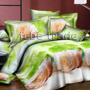Pościel 3D - Cotton World - FST-304 - 160x200 cm - 3 cz