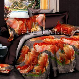 Pościel 3D Plusz - Cotton World - FCR-804 - 160x200 cm - 4 cz