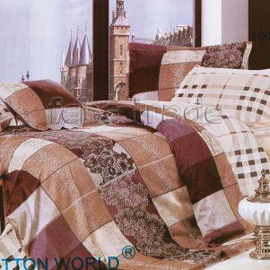 Pościel Bawełniana - Cotton World - LX-201 - 160x200 cm - 4 cz