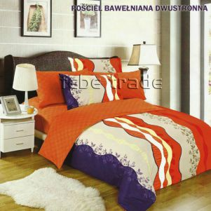 Pościel Bawełniana - Cotton World - LW-158 - 160x200 cm - 4 cz