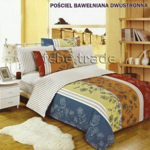 Pościel Bawełniana - Cotton World - LW-158 - 160x200 cm - 3 cz