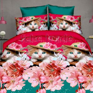 Pościel 3D - Cotton World - FST-1714 - 160x200 cm - 3 cz
