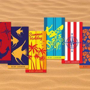 Ręczniki plażowe Blue Lagoon 70 x 140 cm