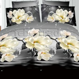 Pościel 3D - Cotton World - FSB-17007 - 160x200 cm - 3 cz