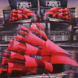 Pościel 3D - Bawełna 5D - BD-98 - 160x200 cm - 3 cz