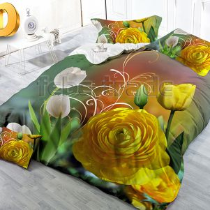 Pościel 3D - Bawełna 5D - BE-D-93 - 160x200 cm - 3 cz