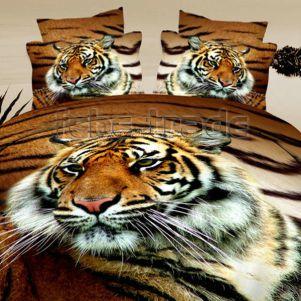 Pościel 3D - Cotton World - FSB-17009 - 160x200 cm - 3 cz
