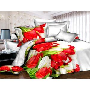 Pościel 3D - Cotton World - FSP-340 - 180x200 cm - 4 cz