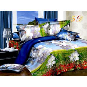 Pościel 3D - Cotton World - FSB-220 - 180x200 cm - 4 cz