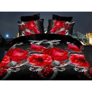 Pościel 3D - Cotton World - FST-1715 - 220x200 cm - 3 cz