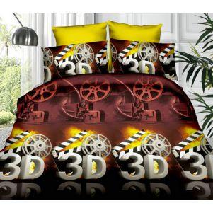 Pościel 3D - Cotton World - FST-352 - 220x200 cm - 3 cz