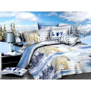 Pościel 3D - Cotton World - KSD-292 - 160x200 cm - 4 cz