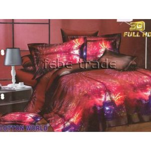 Pościel 3D - Cotton World - KSD-366 - 160x200 cm - 3 cz
