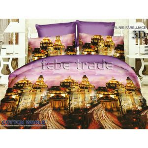 Pościel 3D - Cotton World - FSH-168 - 220x200 cm - 3 cz
