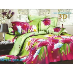 Pościel 3D - Cotton World - FSH-306 - 160x200 cm - 3 cz