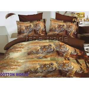 Pościel 3D - Cotton World - SSH-325 - 220x200 cm - 3 cz