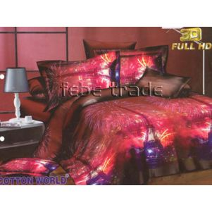 Pościel 3D - Cotton World - SSH-368 - 220x200 cm - 4 cz