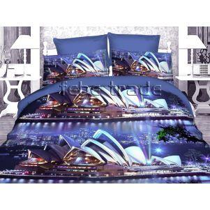 Pościel 3D - Cotton World - FSH-519 - 160x200 cm - 3 cz
