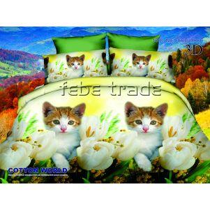 Pościel 3D - Cotton World - FSC-280 - 160x200 cm - 4 cz