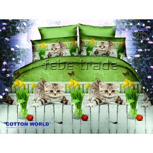 Pościel 3D - Cotton World - FSC-280 - 160x200 cm - 3 cz