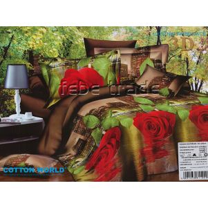 Pościel 3D - Cotton World - FSP-151 - 220x200 cm - 4 cz