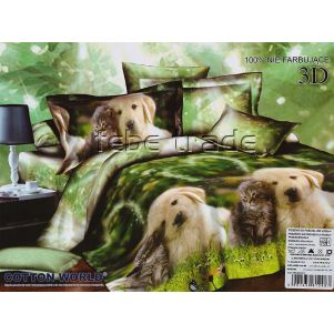 Pościel 3D - Cotton World - FSP-201 - 220x200 cm - 4 cz