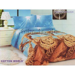 Pościel 3D - Cotton World - FSP-354 - 220x200 cm - 4 cz