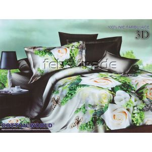 Pościel 3D - Cotton World - FSB-213 - 220x200 cm - 4 cz