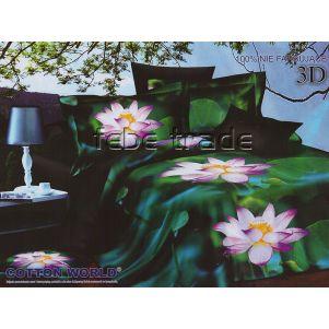 Pościel 3D - Cotton World - FSB-213 - 160x200 cm - 3 cz